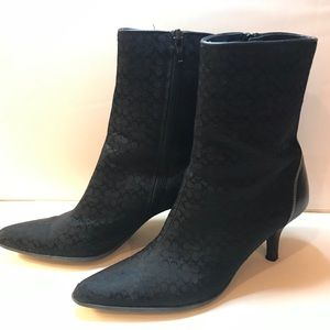 COACH Women's Heeled Boots Size 6.5 w/ Zipper EUC
